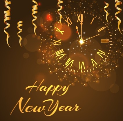happy_new_year_golden_elements_background_vector_540181